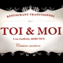 Toi et moi. Restaurant gay. Nice